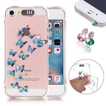 f1cd99b1b54 iPhone 5 Móvil, iPhone 5S Cover, iPhone 5 Case, pershoo Hot esmaltes  Bronzing Imprimir TPU Silicona Softcase Carcasa Funda para ...
