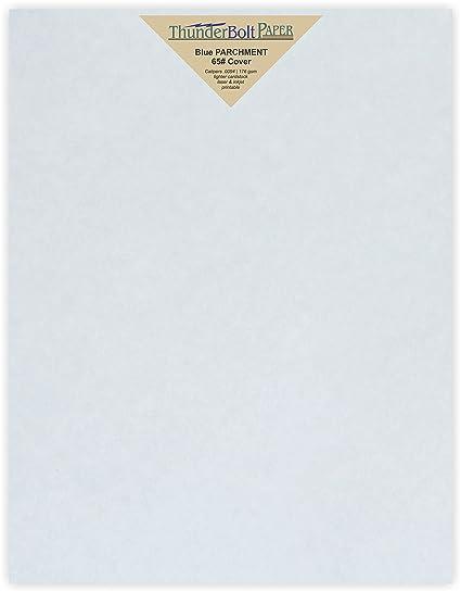 amazon com 50 blue parchment 65lb cover weight paper 8 5 x 11