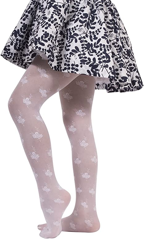 TODDLER /& GIRL   BOW  TIGHTS WITH HEART PATTERN  VARIOUS  SIZES BABY