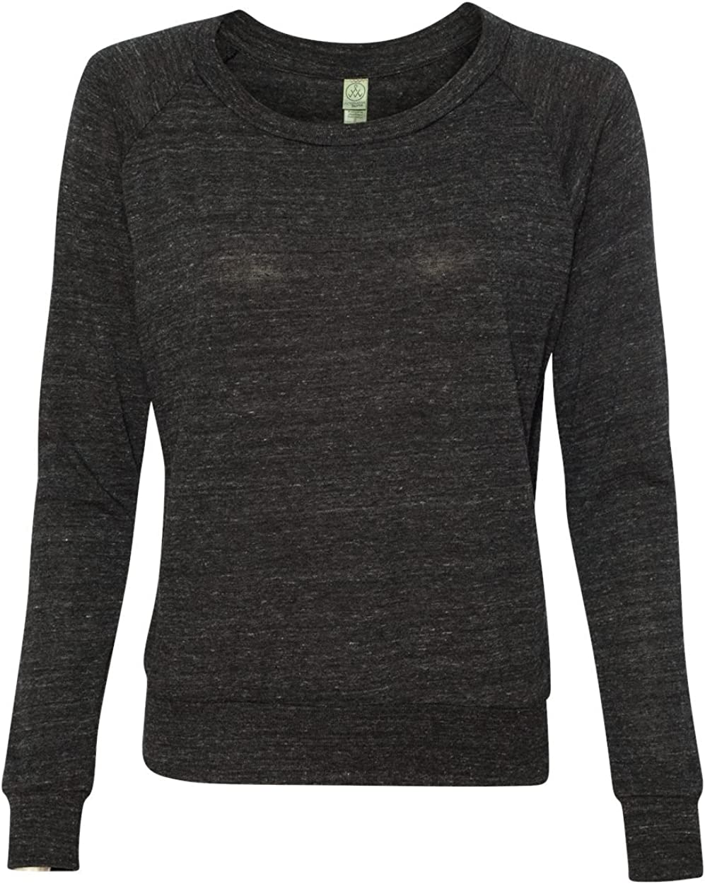 Alternative womens Polyster//Cotton Slouchy Pullover -ECO BLACK-S-2PK AA1990