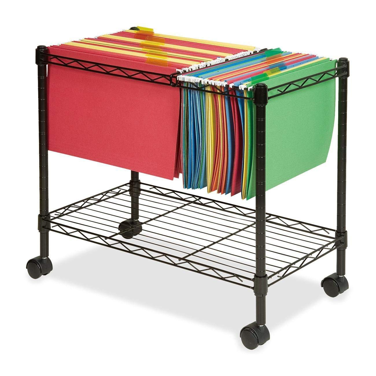 Lorell LLR45651 Mobile File Cart by Lorell