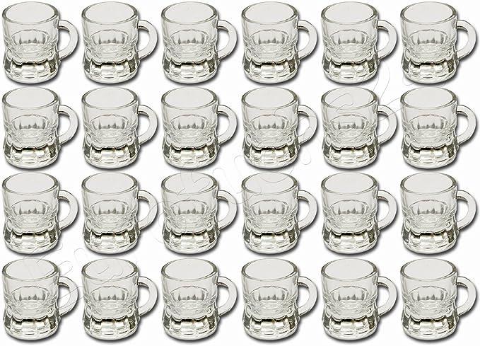 12 x Schnapsglas Schnapskrug Stamper Glas Trinkglas Schnapsgläser Humpen Gläser