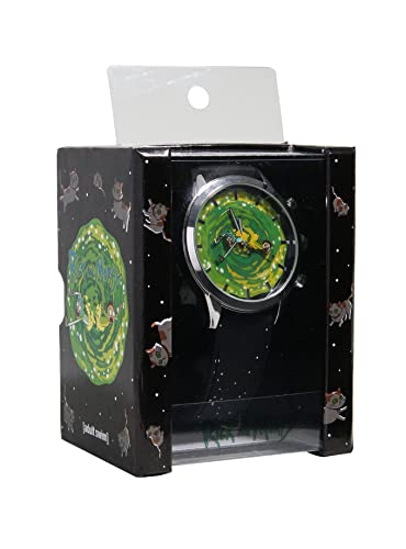 amazon com rick and morty rotating portal licensed men s watch