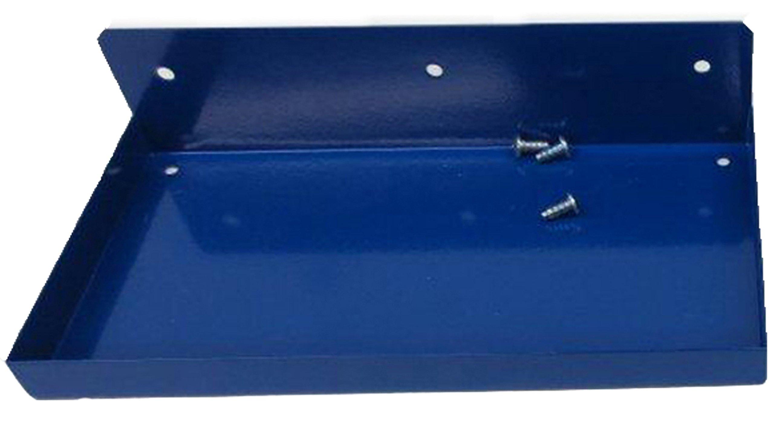 Triton Products 76126 Epoxy Coated Steel Shelf for DuraBoard Pegboard, 12-Inch x 6-Inch, Deep Blue