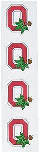 Sports Solution Ohio State O with Buckeye Logo Sticker