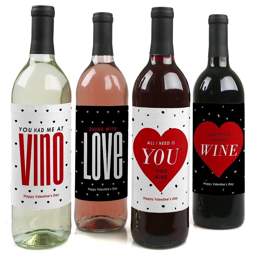 how to put labels on wine bottles