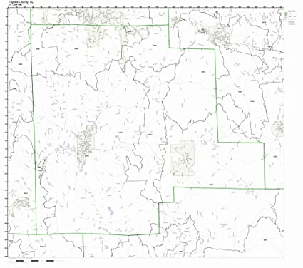 Amazon Com Fayette County Alabama Al Zip Code Map Not Laminated