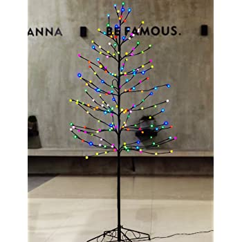 bolylight led lighted frosted ball tree 6ft 184l bulb christmas decorations homebedroomparty outdoor indoor use multi color