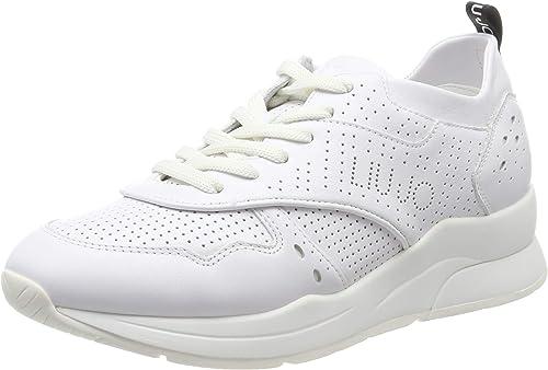 Liu Jo Jeans Karlie 14 Sneaker Calf Leather White, Scarpe da Ginnastica Basse Donna