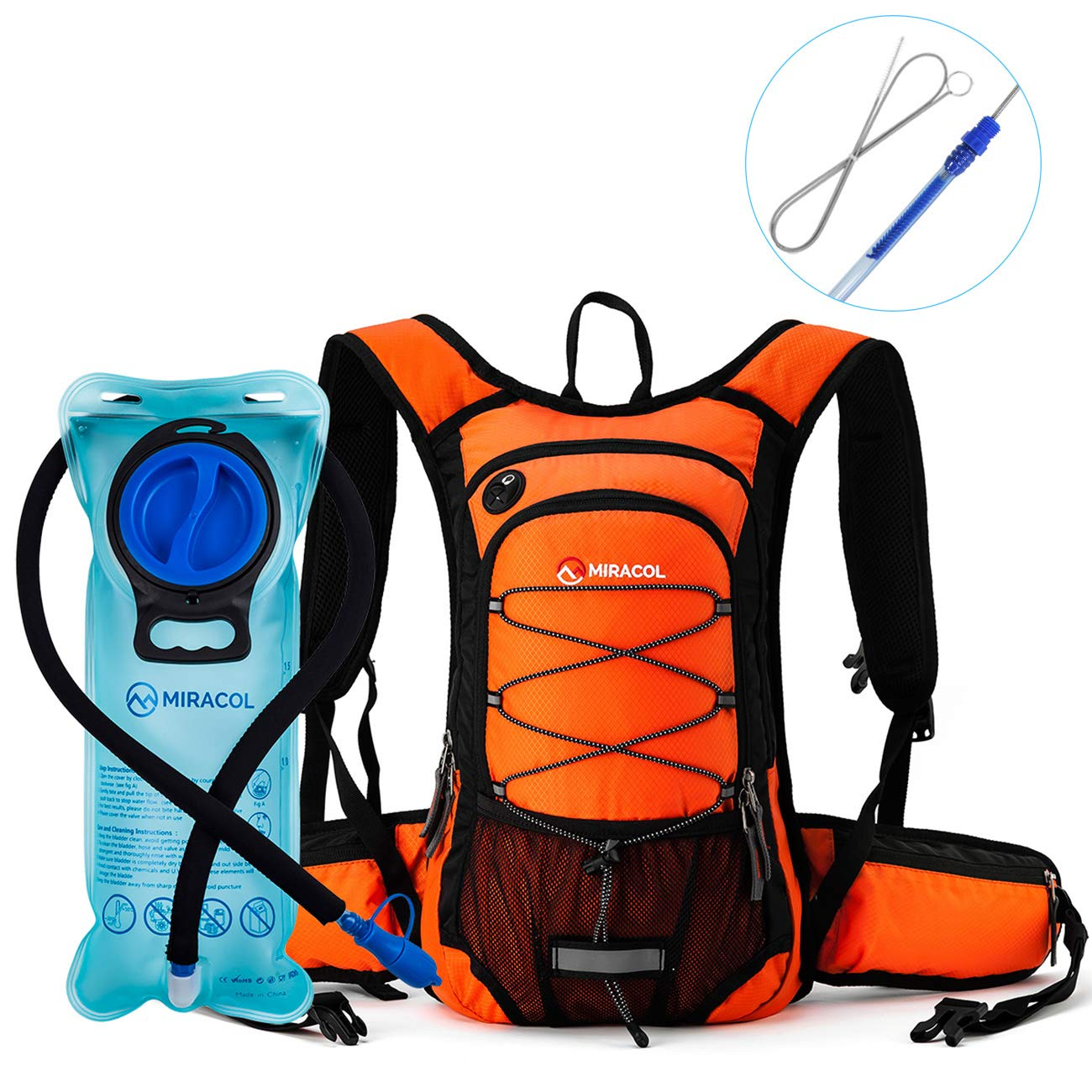 MIRACOL Hydration Bladder 2 Liter 70 oz Reservoir Best Cycling Hiking Camping Backpack