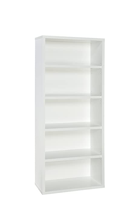 ClosetMaid 13504 Decorative 5 Shelf Premium Bookcase, White
