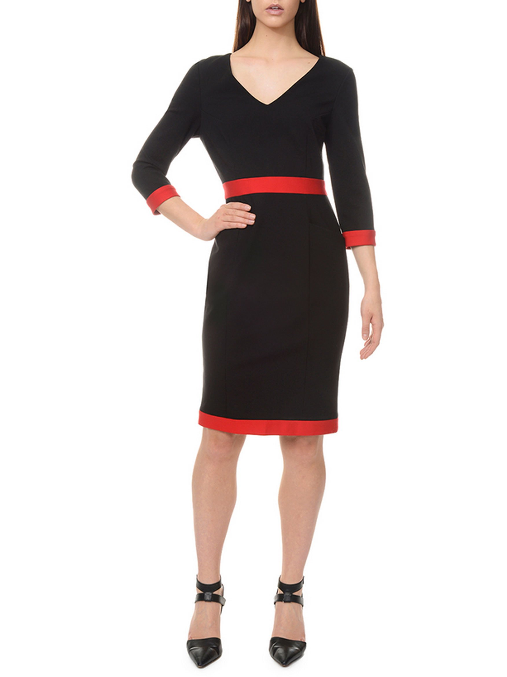 LM Style Bar Ponte Knit Banded Classic Dress (12)