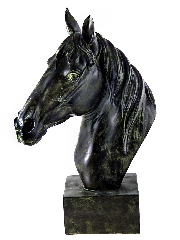 Bellaa 26089 Horse Head Statue Bust Stunning Sculpture 18 Inch by Bellaa