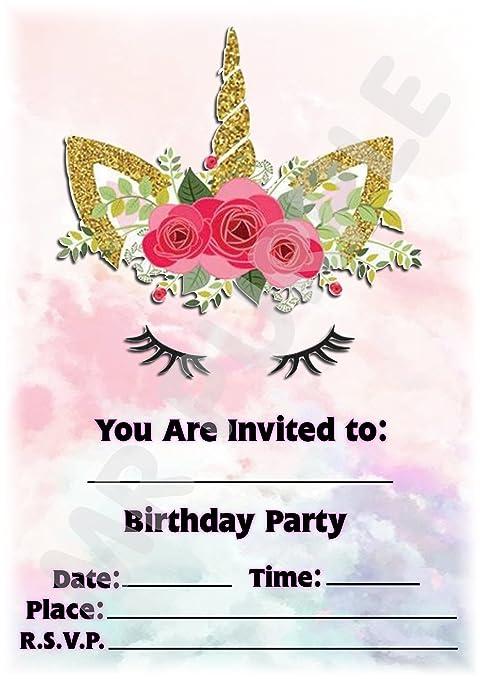 Inviti Per Feste Di Compleanno Di Bambini Motivo Unicorno