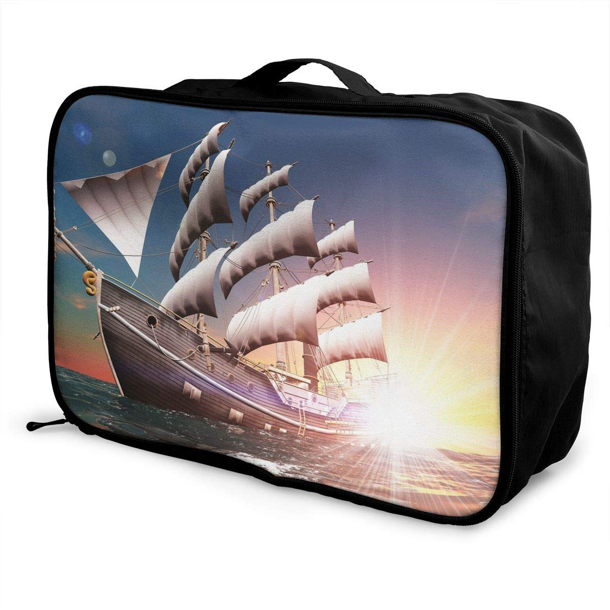 Travel Luggage Duffle Bag Lightweight Portable Handbag Sailing Ship Large Capacity Waterproof Foldable Storage Tote