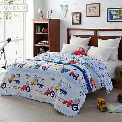 Amazon Brandream Blue Kids Bedding Trucks Printed Boys Car