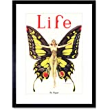 Magazine 1922 Life Butterfly Dance Framed Art Print Picture & Mount F12X491