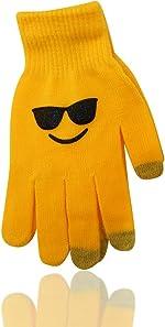 Emoji Emoticon Unisex Ear Warmers Earmuff Gloves in Sets or Separately,