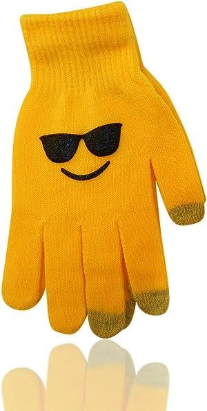 Emoji Emoticon Unisex Ear Warmers Earmuff Gloves in Sets or Separately, USA CO.