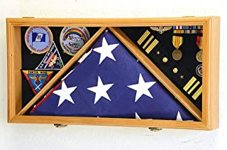 product image for Large Flag & Medals Military Pins Patches Insignia Holds up to 5x9 Flag Display Case Frame