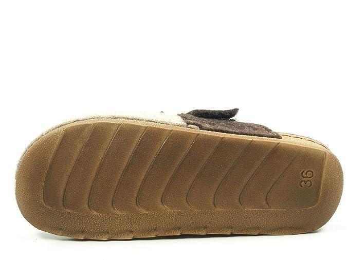 Amazon.com | Manitu Home Damen-Pantolette Beige 320522-8 | Loafers & Slip-Ons