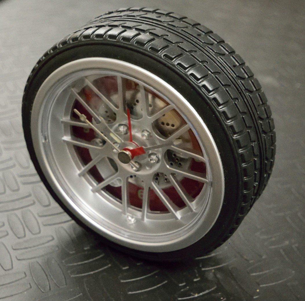 Wheel and Tire Desk Clock CDE