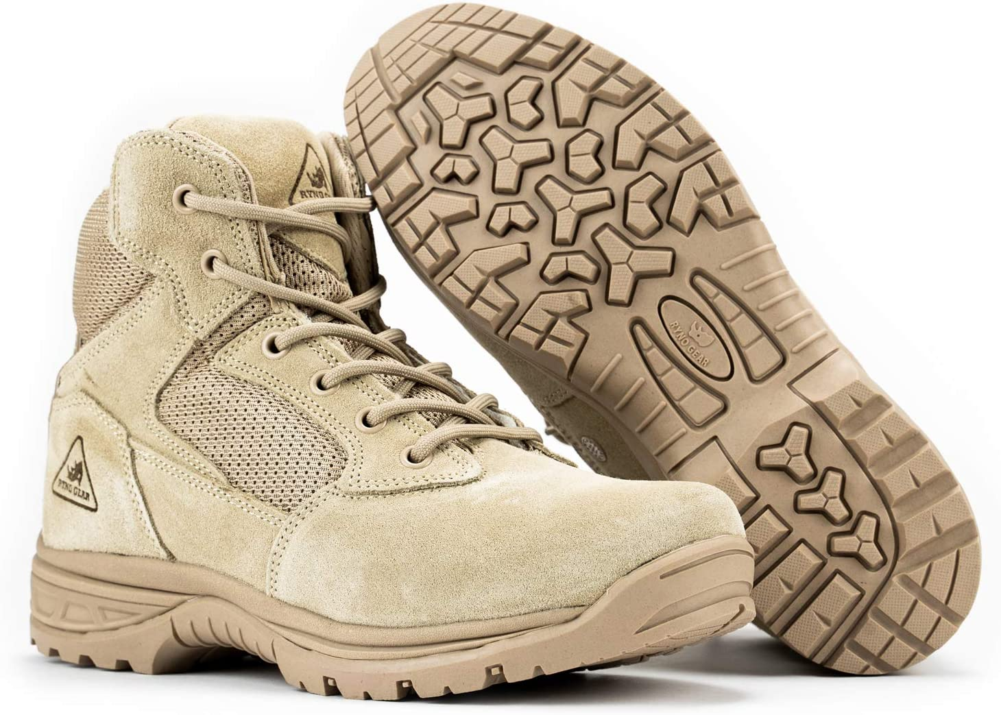 3. Ryno Gear Tactical Combat Boots with Coolmax Lining