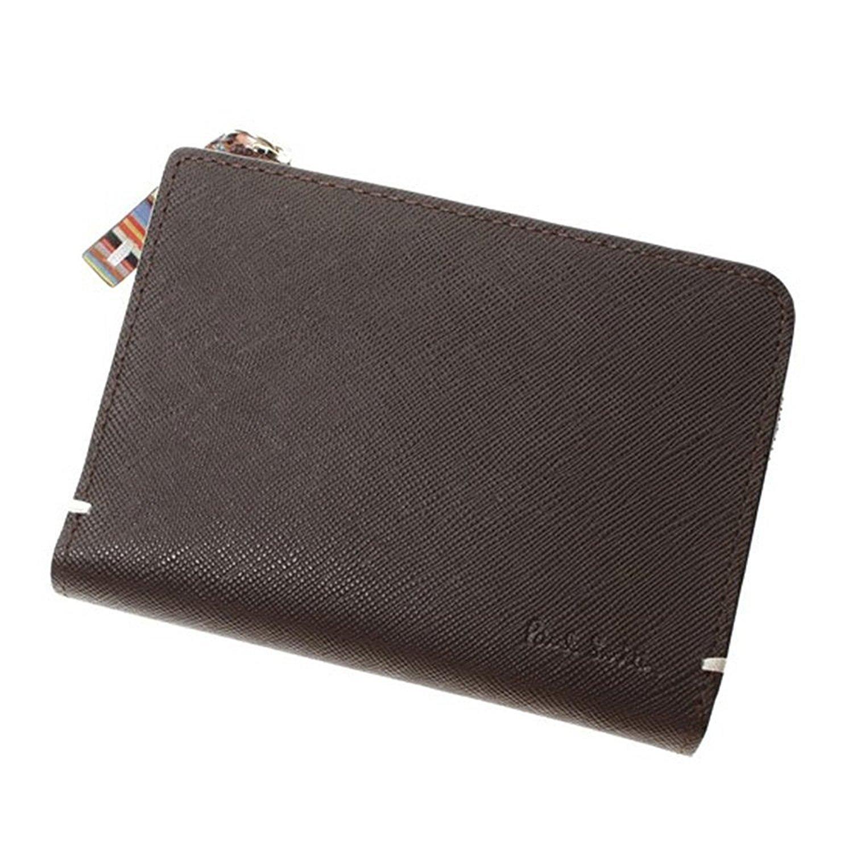 [セット品] ギフトラッピングセット Paul Smith ポールスミス 財布 メンズ 二つ折り ジップストローグレイン国内正規品 B01BM9S8IS ブラウン ブラウン -
