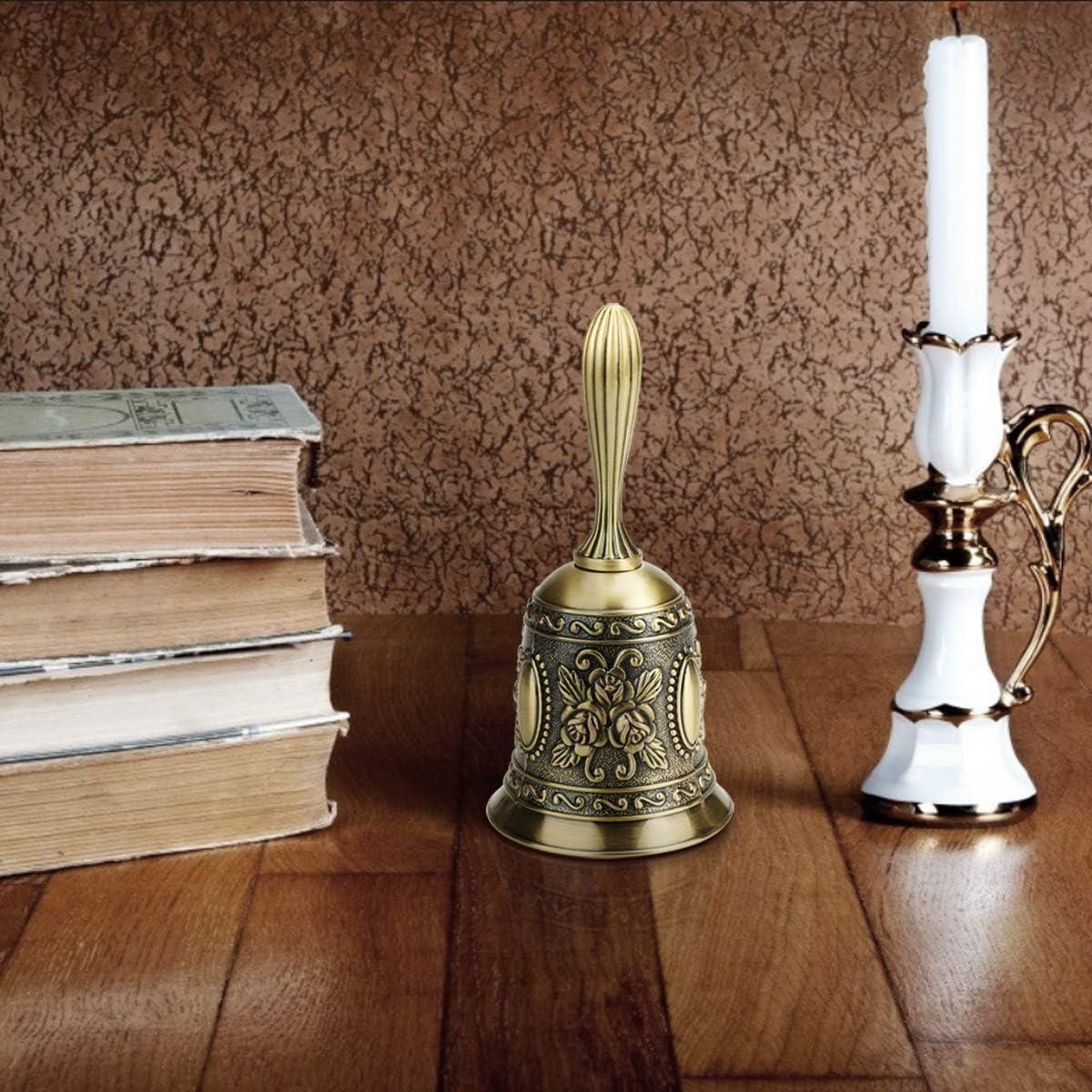Alliage de Zinc Classique Appel Fort Bell Service Main Traditionnelle Appelez Bell pour R/éception D/école D/îner Service H/ôtel M/éditation Pet Feeding Pri/ère D/écoration CestMall Cloche
