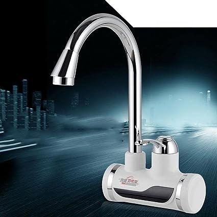 LED calentador Agua Calentador instantáneo eléctrico grifo cocina grifo de agua Tankless £ instantánea grifo