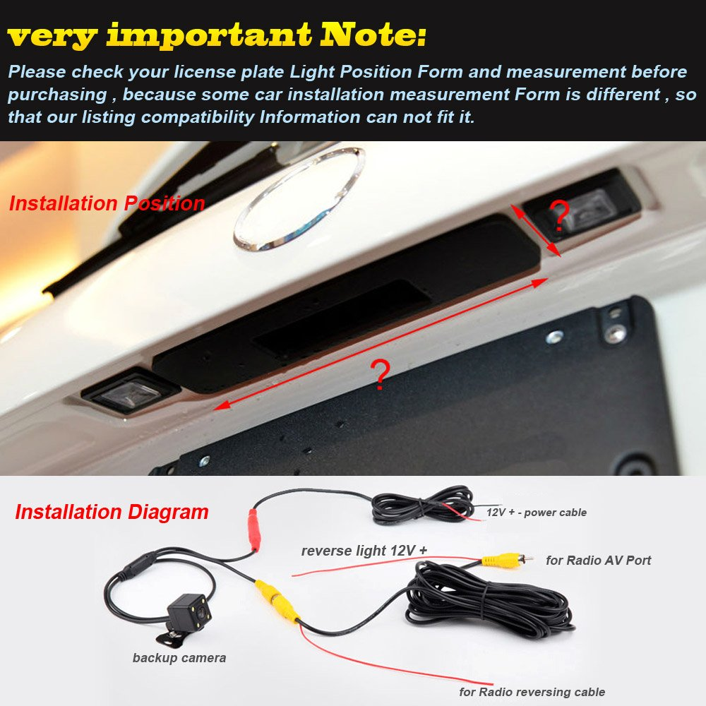 Waterproof Reversing Backup Camera 170 Reversible Radio Wiring Diagram Vehicle Specific Trunk Handle Integrated Into Case For Truck A6l A8l Q7