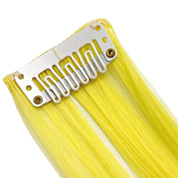 20\' Clip in Hair Extensions HIGHLIGHTS Neon