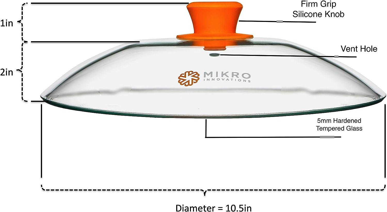 Amazon.com: Tapa de cristal de microondas con agarre firme ...