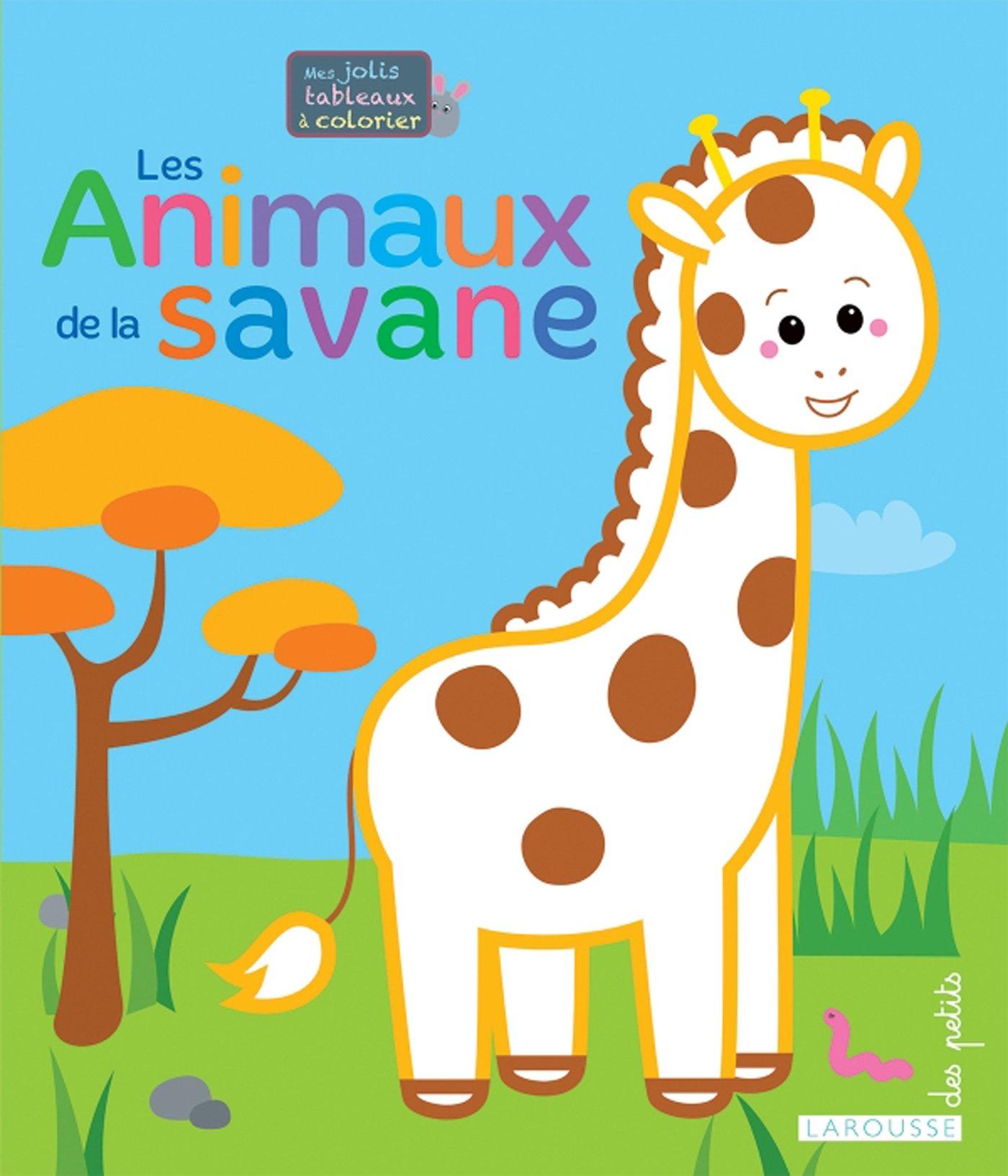 Mes Jolis Tableaux A Colorier Les Animaux De La Savane Mes