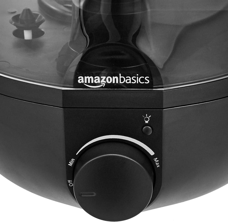 Basics Humidificateur avec veilleuse et diffuseur d/'ar/ômes Noir 1,5/L