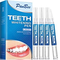 Teeth Whitening Pen with 4x3ml Natural Tooth Whitening Gel Removes Stains Safely...