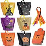 Halloween Candy Bags Treat Bags-30 Pack Paper Halloween Bags Jack-O-Lantern Trick or Treat Goody Bags Halloween Sweet…