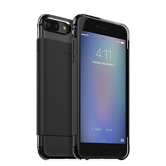 new product 926aa b4001 mophie Hold Force wrap Base Case for Apple iPhone 8 Plus, 7 Plus - Black