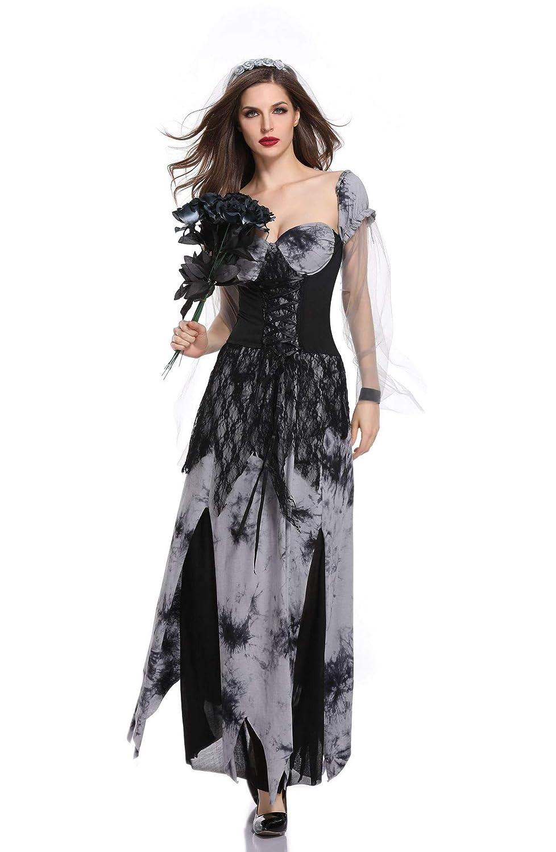 CWZJ Halloween Ghost Brautkleid Weibliche Teufel Vampir Zombie Braut Cosplay Kostüm Horror-Spiel Kostüm