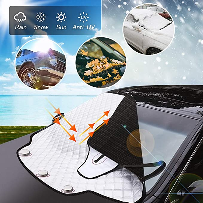 Windscreen Cover Car Windscreen Cover Windscreen Cover Car Cover Frost Protection Car Windscreen Magnetic Foldable Winter Cover Frost Cover Snow Protection Ice Protection Frost Protection Auto
