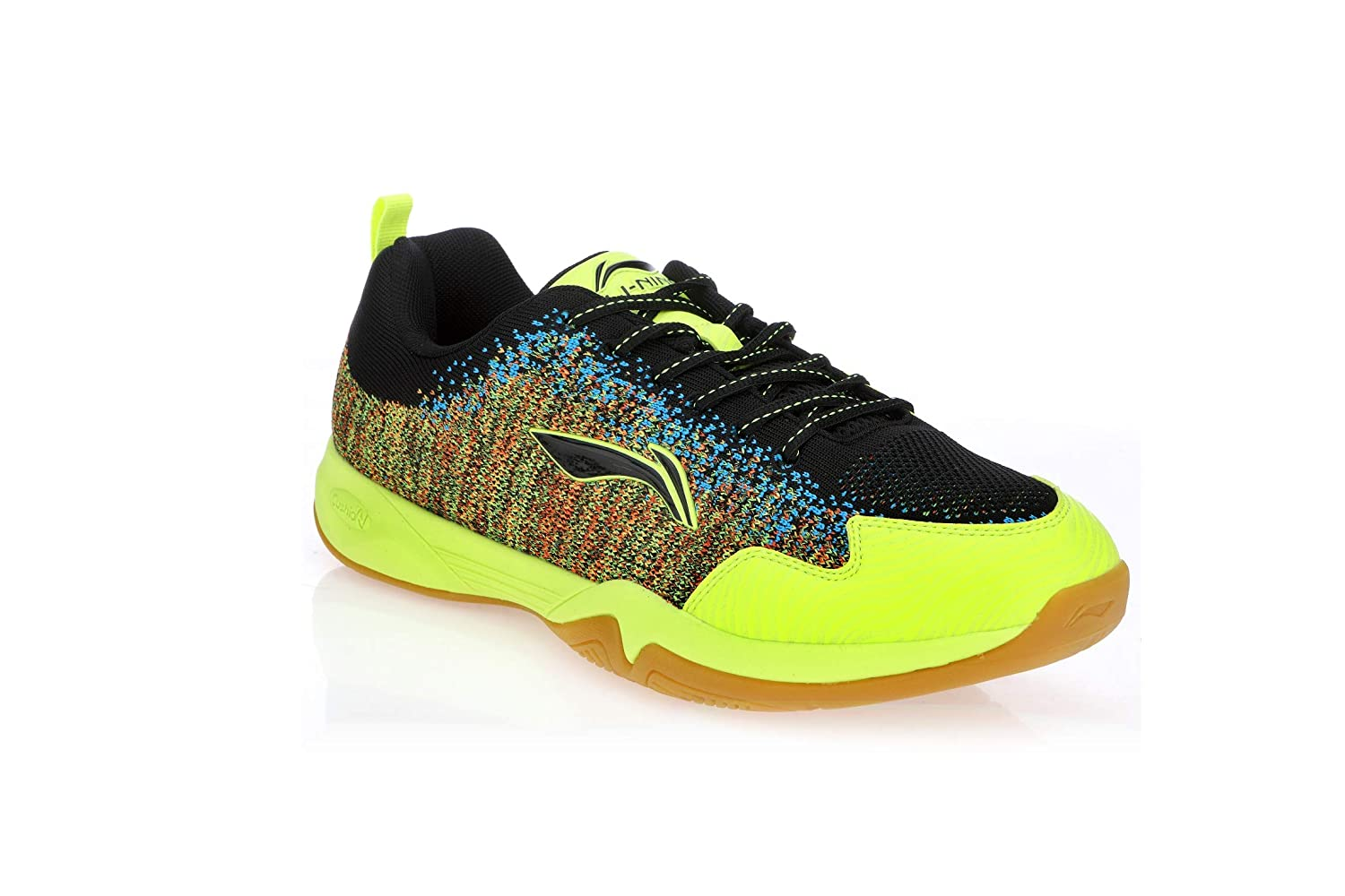Li Ning ION-II Super Light Badminton Sports schuhe, schwarz Lime