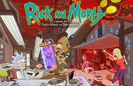 amazon com rick and morty season two poster posters prints