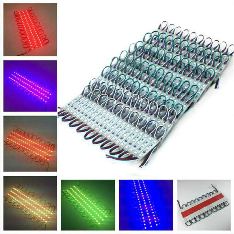 VIPMOON 200Pcs/600LEDs Storefront Lights DC 12V 5050 RGB SMD 3 LED Module Lights Waterproof Light Lamp