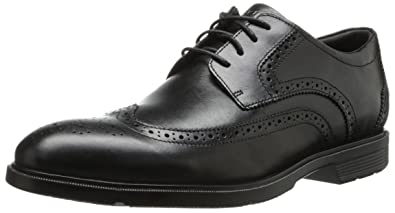 Rockport Men's City Smart Wing Tip Oxford Black 6.5 W (EE)-6.5 W
