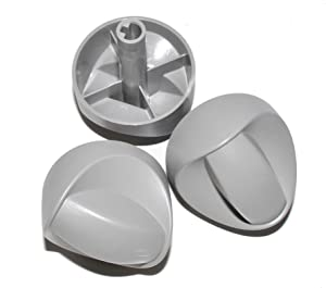 Weber #99242 3 Pack of Control Knobs for 3 Burner Spirit Grills Made in 2007