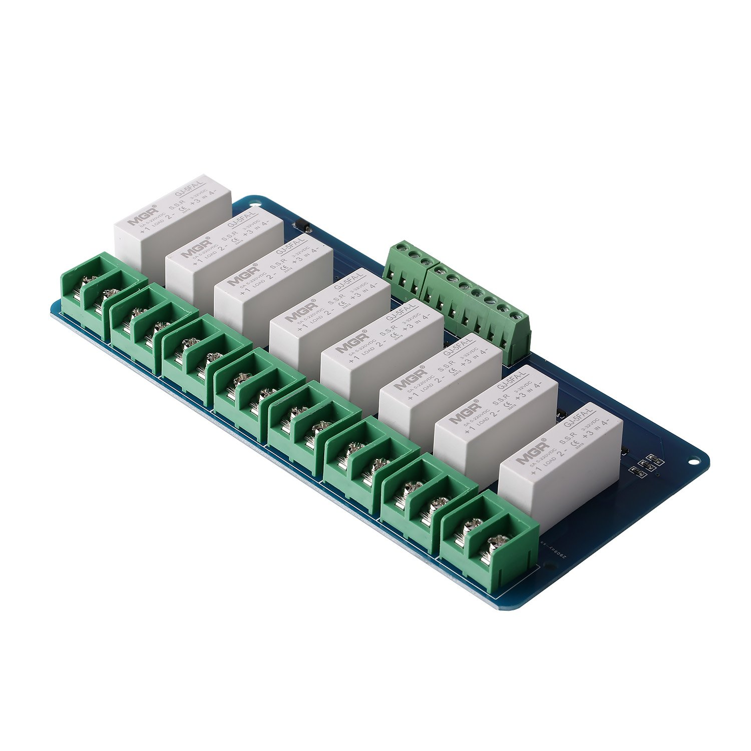Sainsmart 8 Ch Ssr 5a Dc 5v 220v Solid State Relay Board Computers Accessories