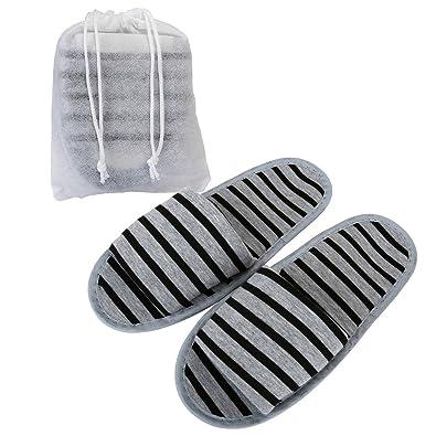 a368aad58c3c Mogoko Foldable Portable Women Men Unisex Spa Slippers