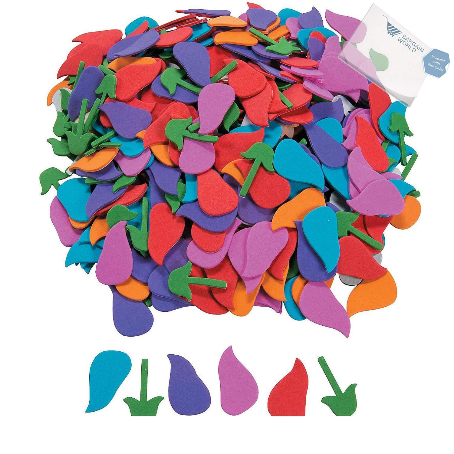Bargain World Tulip Foam Shapes (With Sticky Notes) by Bargain World (Image #1)