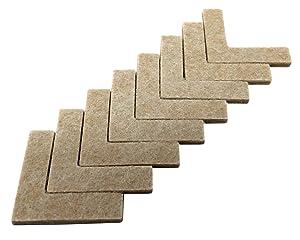 Shepherd Hardware 9816 1-1/2-Inch Heavy Duty Self-Adhesive Felt Corner Furniture Pads, 8-Pack
