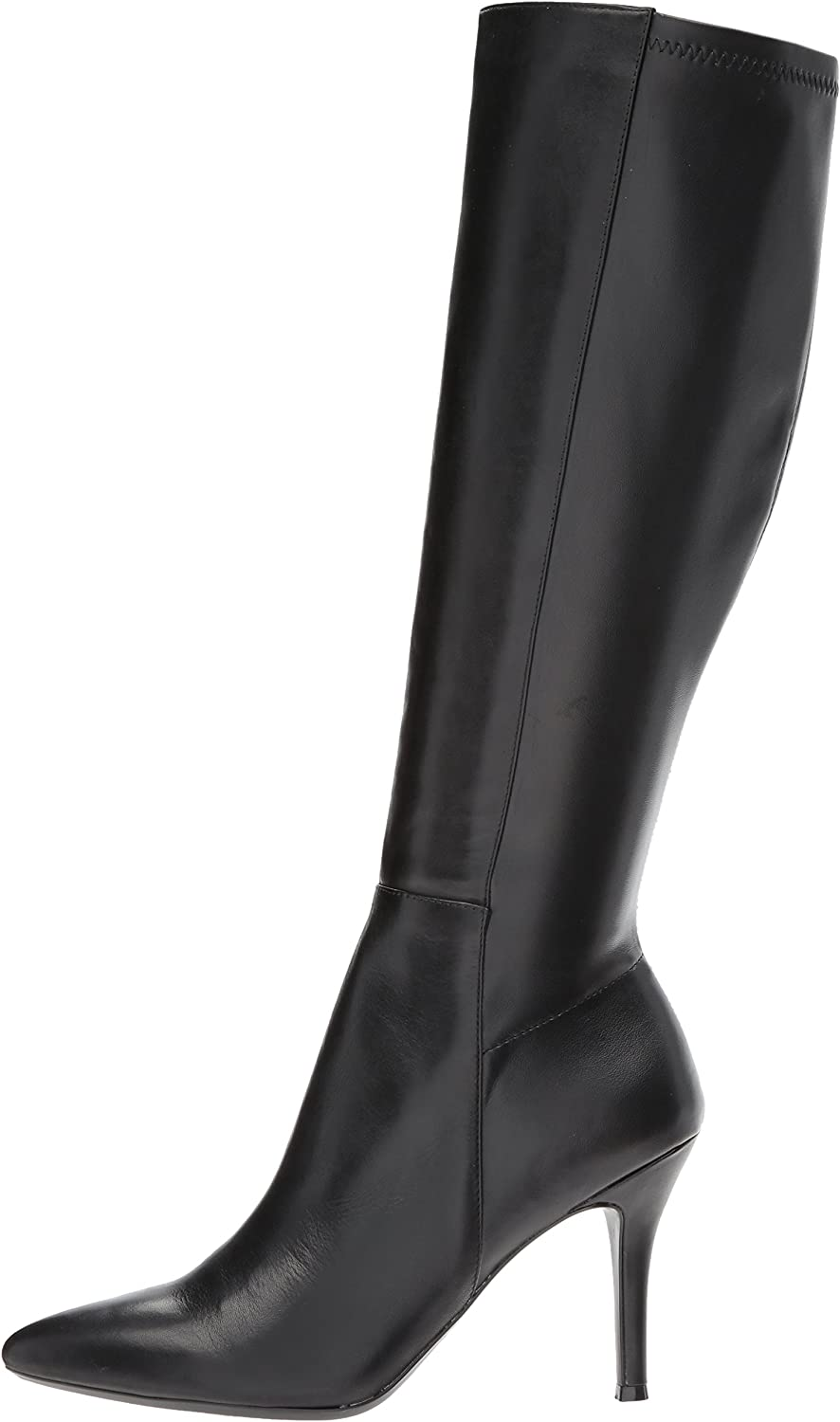 TSDXH108413 AalarDom Womens Frosted Knee-High Solid Pull-On Low-Heels Boots
